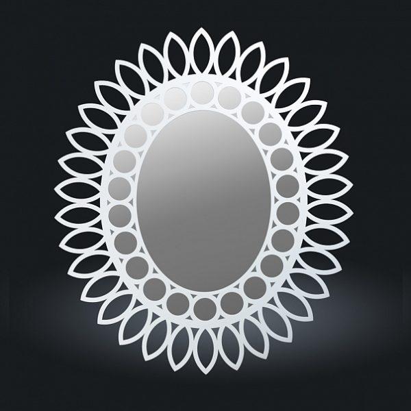 177 belyy 600x600 - Зеркало из натурального дерева, арт. 177