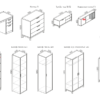 """modulnaya sistema porte academy s 100x100 - Мебель для подростковой комнаты """"Портэ академия"""""""