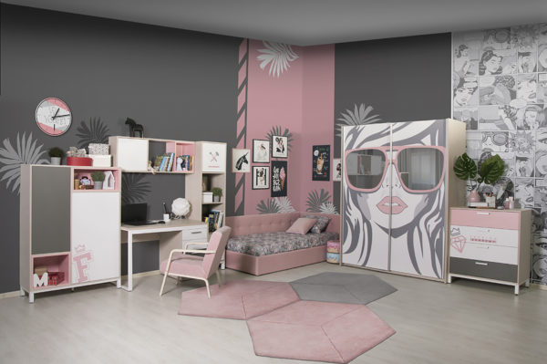 "modulnaya sistema porte fashion academy 1 600x399 - Мебель для подростковой комнаты ""Портэ фэшн академия"""