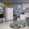 """podrostkovaya modylnaya sistema rumika 2 100x100 - Мебель для подростковой комнаты """"Румика"""""""